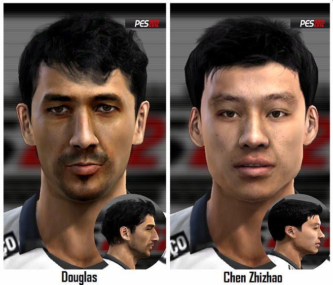 Douglas e Chen Zhizhao Faces - PES 2012