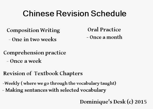 Monkey boy's revision schedule