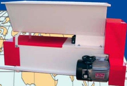 Σπαστήρας-διαχωριστήρας (θλιπτήρας-εκραγιστήρας-απορραγιστήρας για αποβοστρύχωση και έκθλιψη) Enoitalia τύπου Eno 15 βαμμένος