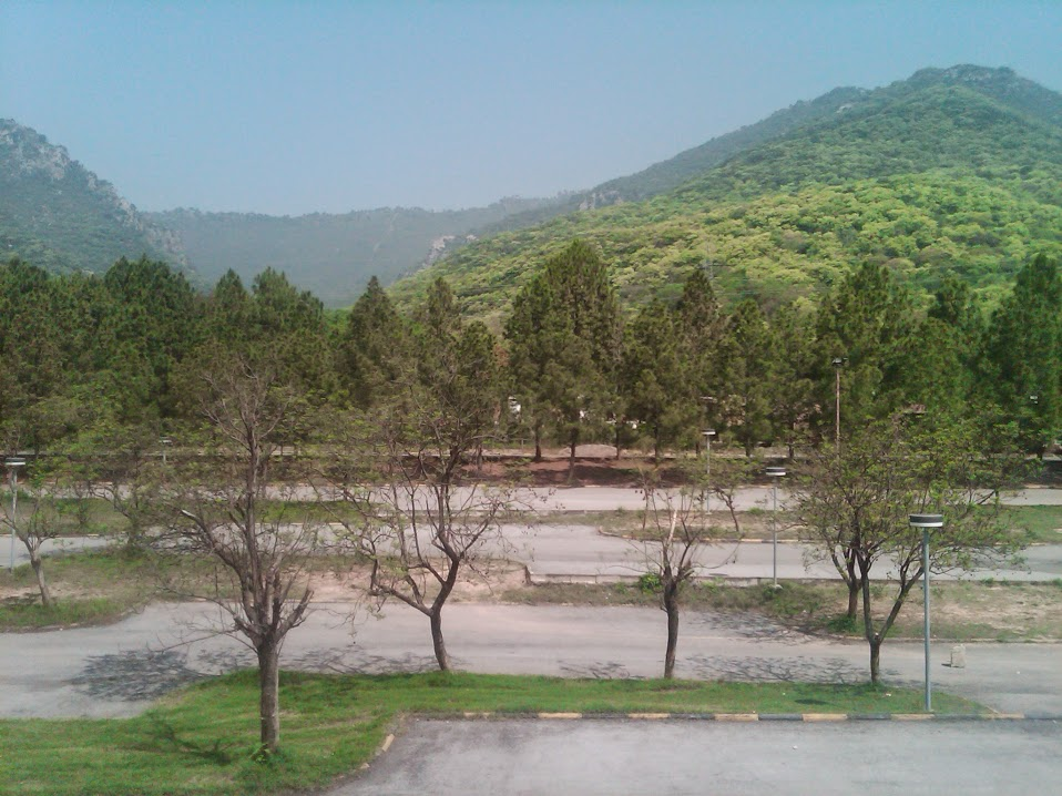 View of Margalla Hills National Park from Faisal Mosque, during teacher trip