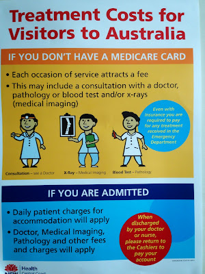 Treatment Costs for Visitors in Australia ads - This picture is one of the ads taken in one of NSW hospitals