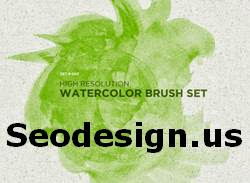Watercolor High Res Brushes