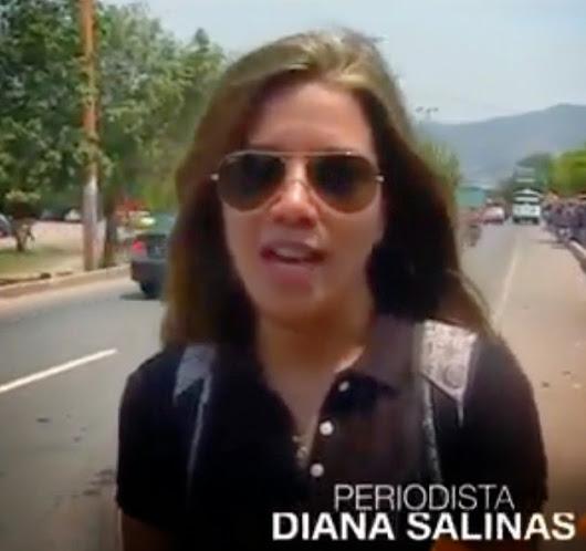 Diana Salinas periodista de RCN en la frontera del contrabando | Video [Enlace]