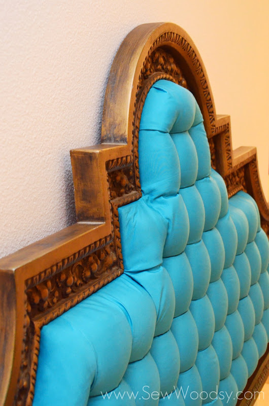 {Video} How to Tuft & Upholster an Ornate Headboard from SewWoodsy.com created for Homes.com #DIY #Video #Upholstery