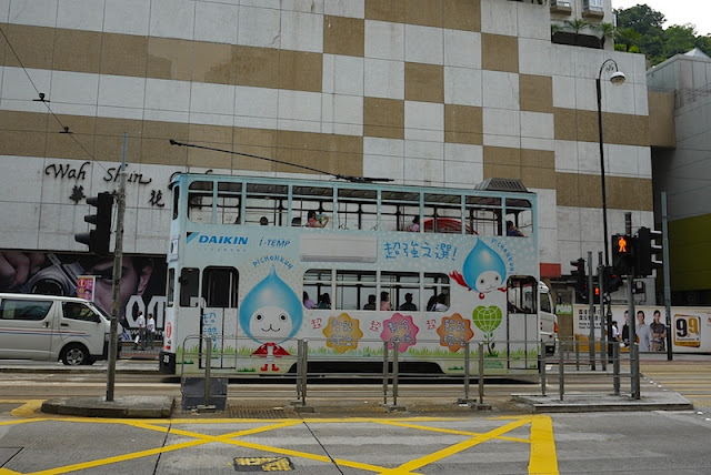 Hong Kong tram with Daikin advertisement