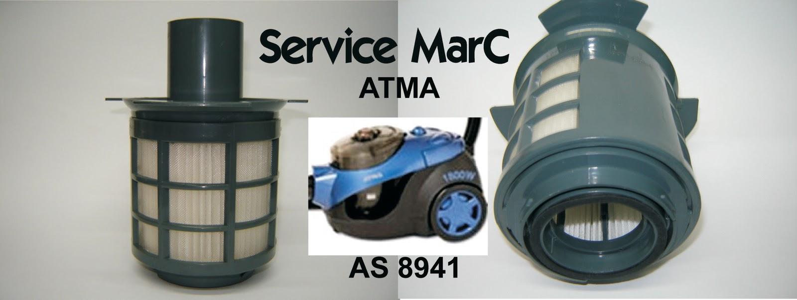 Service marc repuestos filtro hepa de aspiradora atma for Aspiradora con filtro hepa