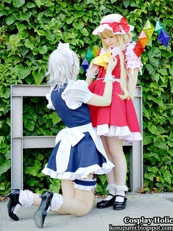 touhou project cosplay - izayoi sakuya and flandre scarlet