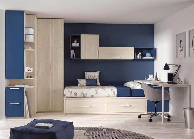 Dormitorios juveniles kids touch ros - Habitacion juvenil azul ...