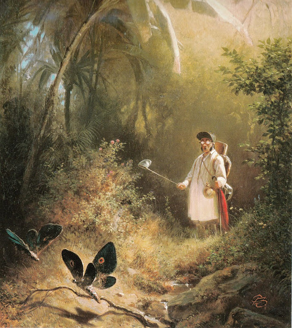 Carl Spitzweg - Der Schmetterlingsfänger.The Butterfly Hunter.