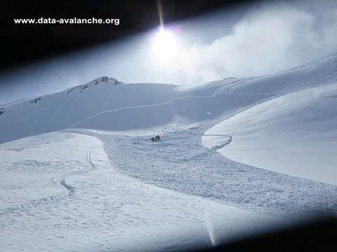 Avalanche Cerces, secteur Aiguillette du Lauzet, Crête du Chardonnet - Photo 1 - © Mazier Bruno