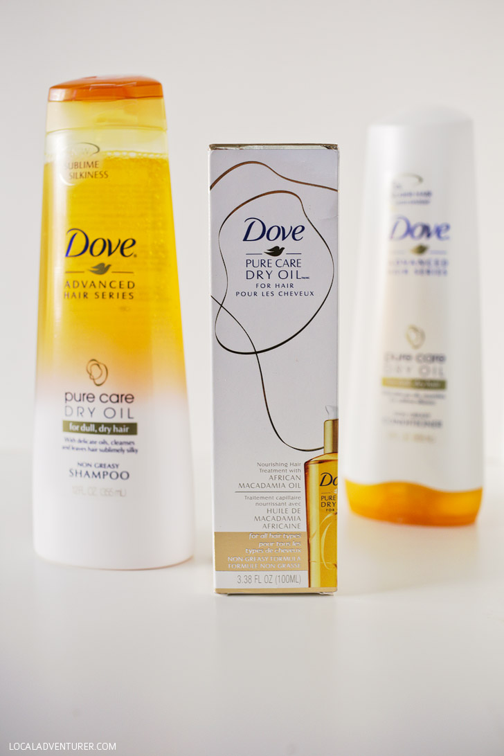 Dove Pure Care Dry Oil Hair Care for No Fuss, Quick and Easy Hairstyles.