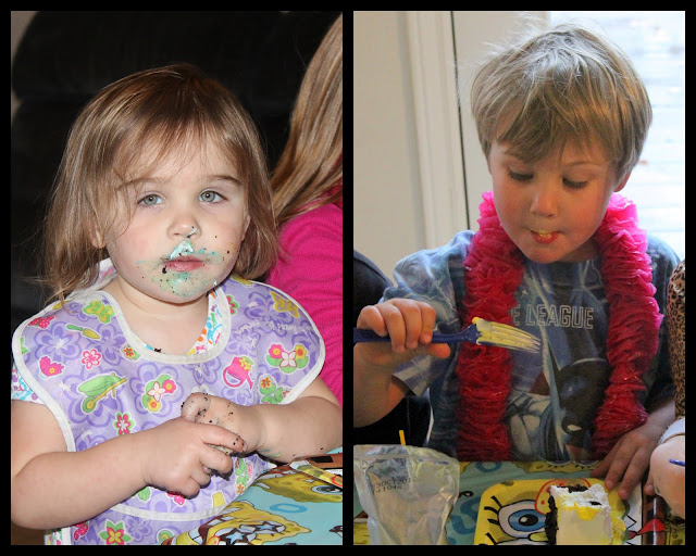 My 2 year old ate more cake than the older kids...