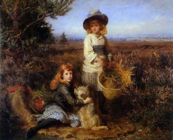 Karl Wilhelm Friedrich Bauerle - Among the fernes