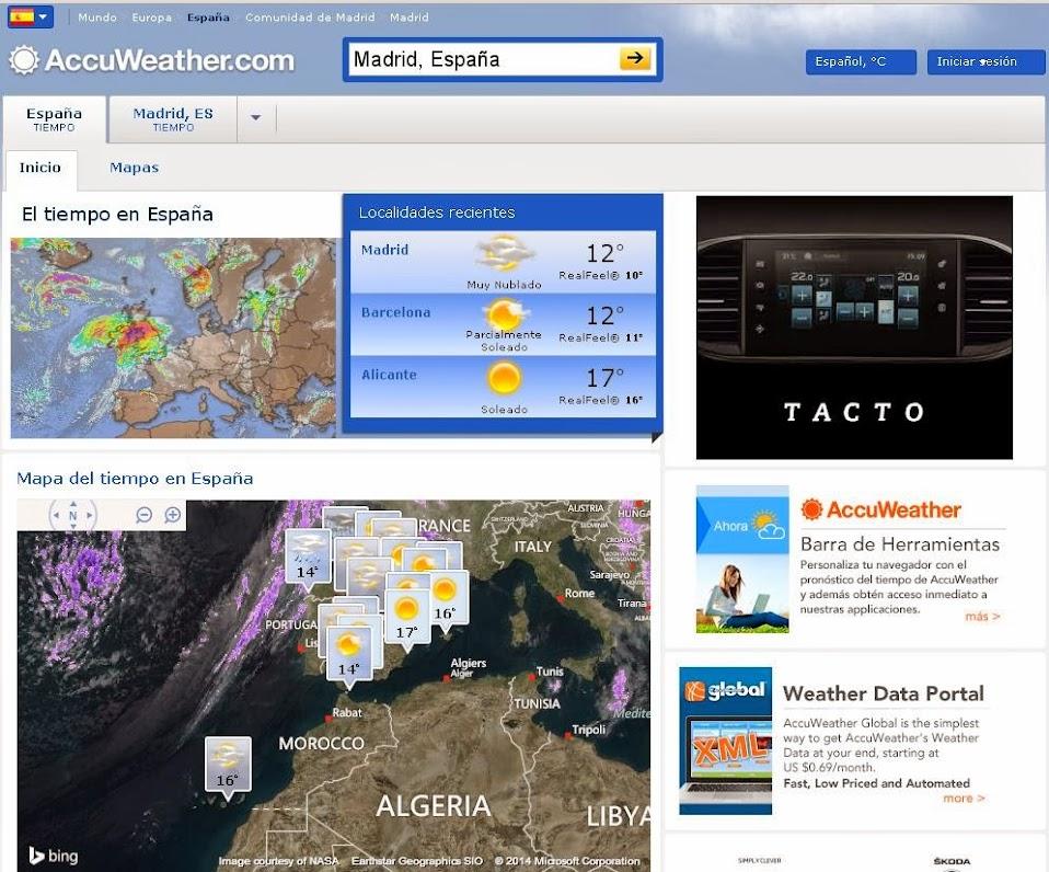 Accuweather otro excelente servicio para mirar el estado for Pronostico del tiempo accuweather
