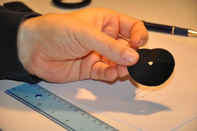 Circulo de aironfix de 52 mm. con orificio en el centro