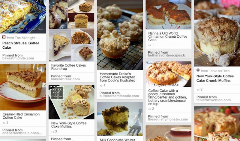 Coffee Cake Pinterest Board
