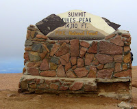 Pikes Peak Summit 14,115 FT, Pike National Forest, Cascade, Colorado 7/28/11