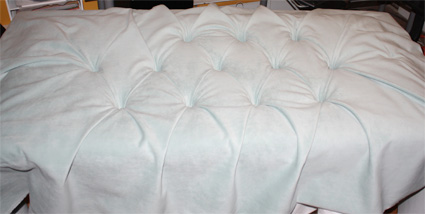 Remodelaholic upholstered headboard bed frame - What to use instead of a headboard ...