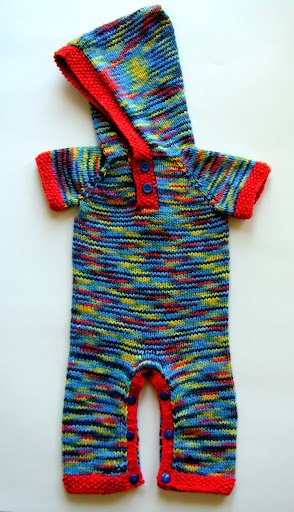 Hooded Romper 3-6month Deep Space for Boys