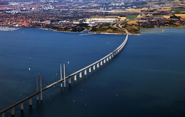 Картинки по запросу фото Мост Дания-Швеция