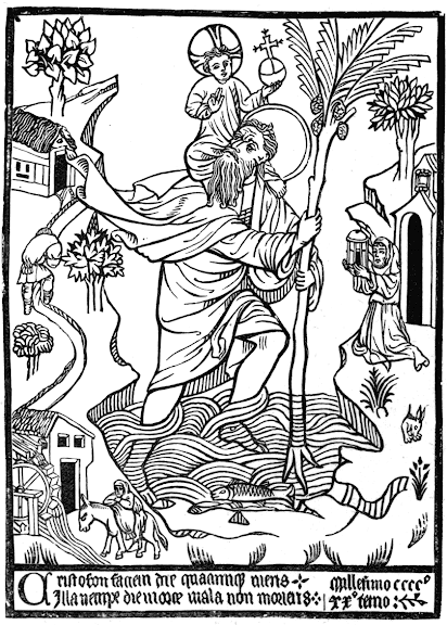 St. Christopher from a 1432 Woodcut
