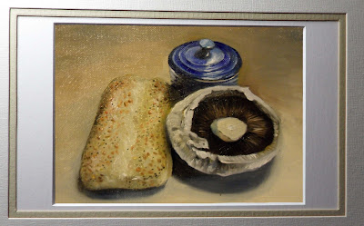 Bread and Mushroom, Daily painting.