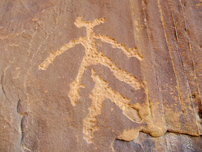 Petroglyphs in Three Finger Canyon. Ouch.