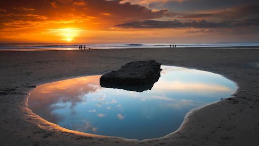 Dunraven Bay at Sunset, South Glamorgan, Wales, United Kingdom.jpg