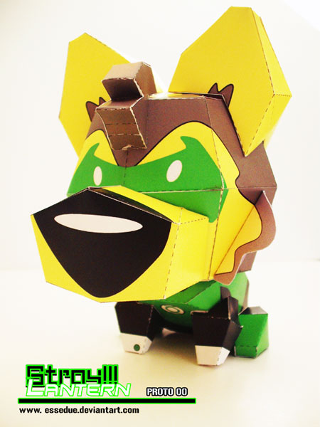 Stray Dog Paper Toy Green Lantern