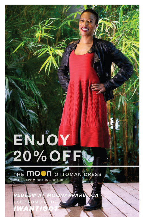 Save 20% on the Moon Apparel Ottoman Dress with the code IWANTIGOT