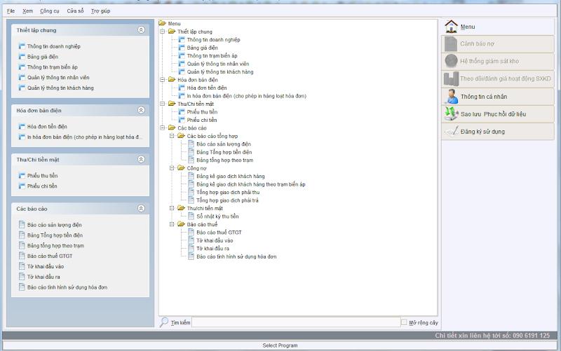 Phần mềm quản lý điện năng và in hóa đơn