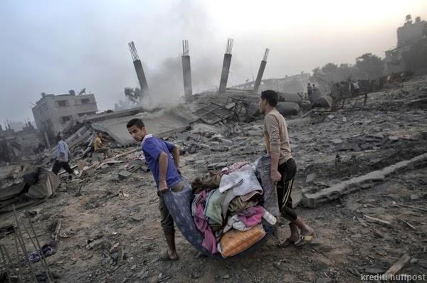 serangan bedilan di gaza