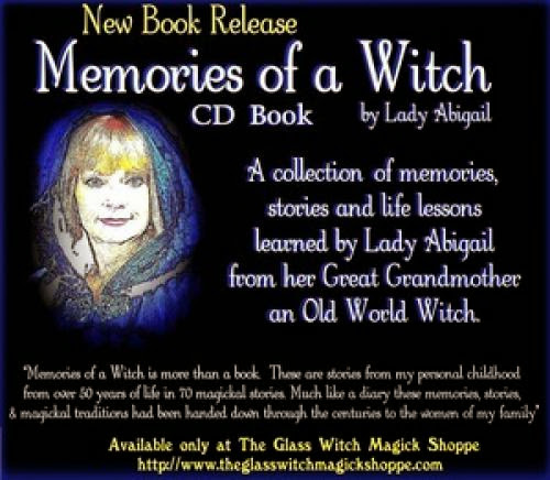 Memories Of A Witch Cd Book By Lady Abigail - 17 00