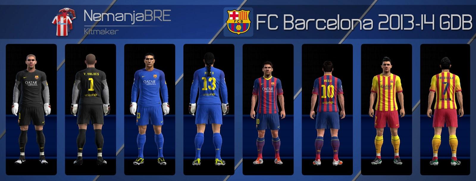 Barcelona 2013-14 Kitset - PES 2013