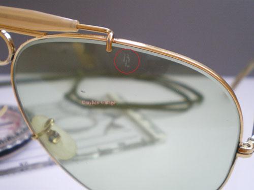 Détail du marquage BL sur le haut du verre.