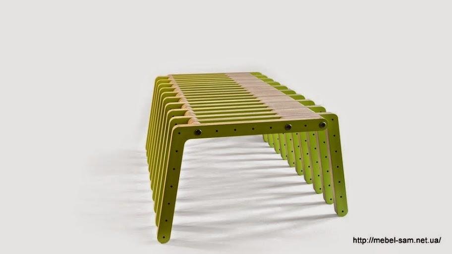 Сборная скамейка из фанерных деталей