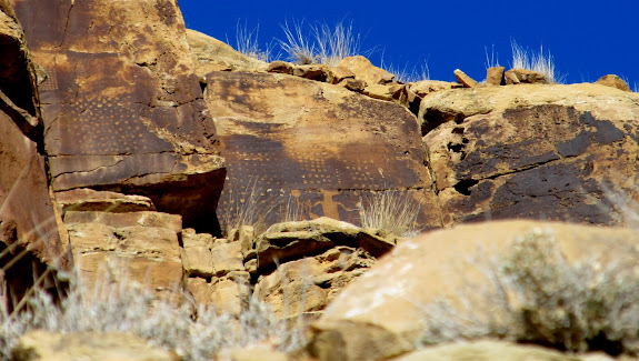 A great, high-up petroglyph panel that I need to climb up to someday