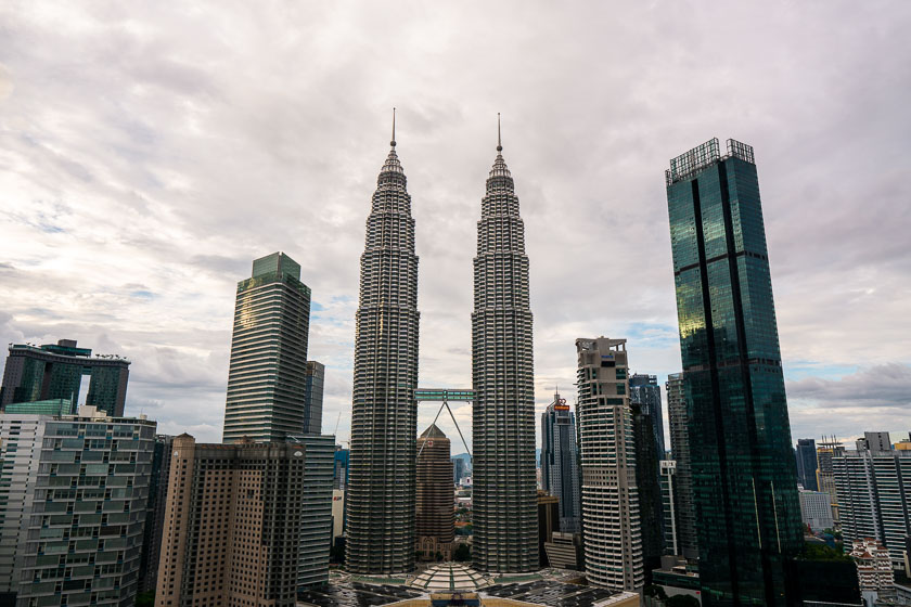Petronas towers in KL city centre.