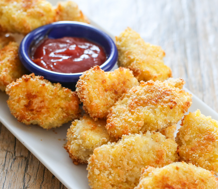 photo of Parmesan Chicken Nuggets piled on a plate