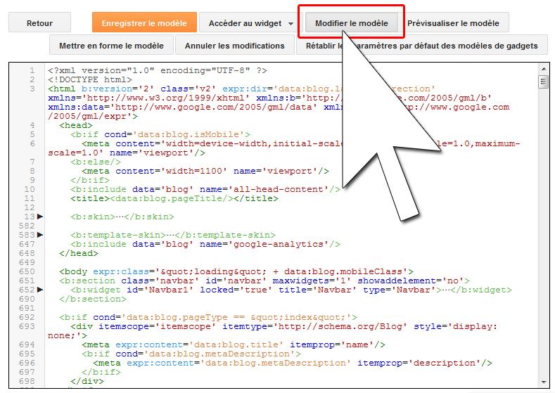 Accéder au code HTML