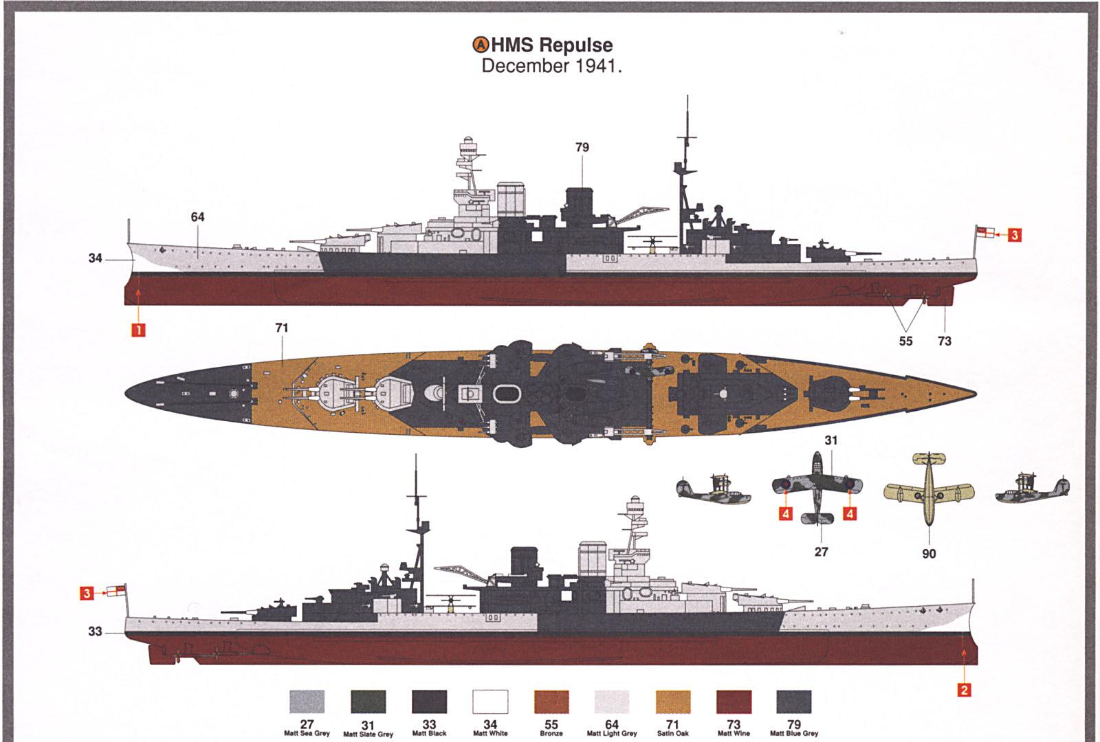 Resultado de imagen de hms repulse model kit