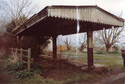 The Axbridge Canopy prior to dismantling which started in Spring 1989. Date:  Probably Christmas 1988.   Photo:  Sean Gamage?