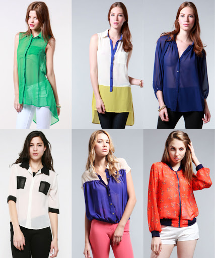 Esta de Moda: Chiffon Shirts - Camisas de Chifon