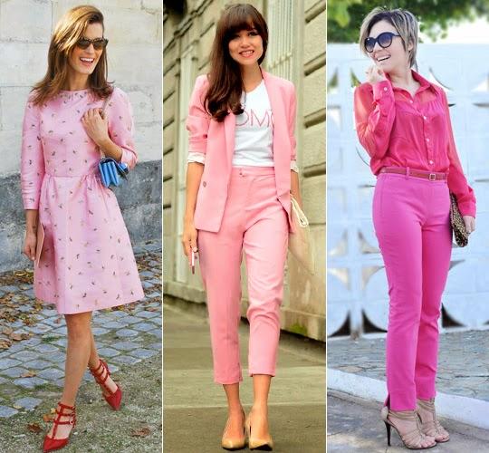 como usar cor de rosa