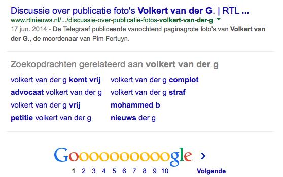 Volkert van der G. wordt door Google nog niet vergeten...