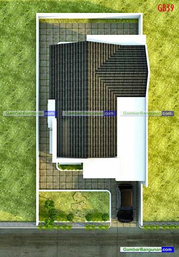 Tampak atas rumah minimalis di taiwan