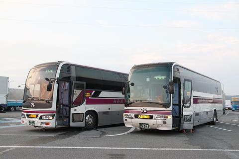 阪急バス「よさこい号」 05-2889 阪急バス「オレンジライナーえひめ号」 07-2902 淡河PAにて
