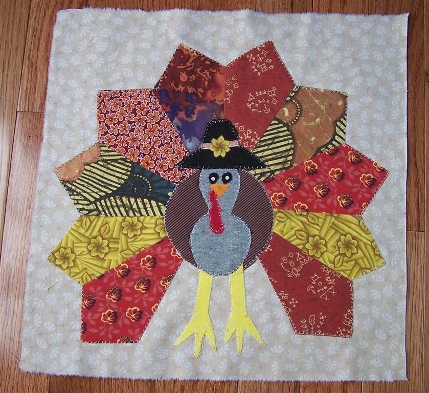 Perennial Passion: Seeds 2011,Turkeys & Cupcakes : turkey quilt block - Adamdwight.com