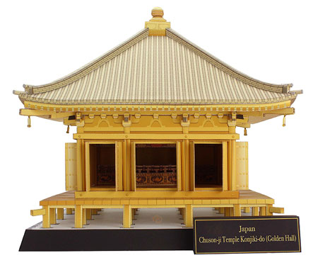 Chuson-ji Temple Konjiki-do Papercraft Golden Hall