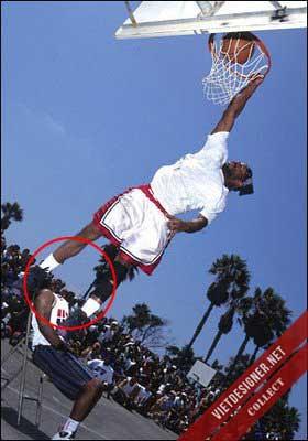Vận động viên bóng rổ không đầu.